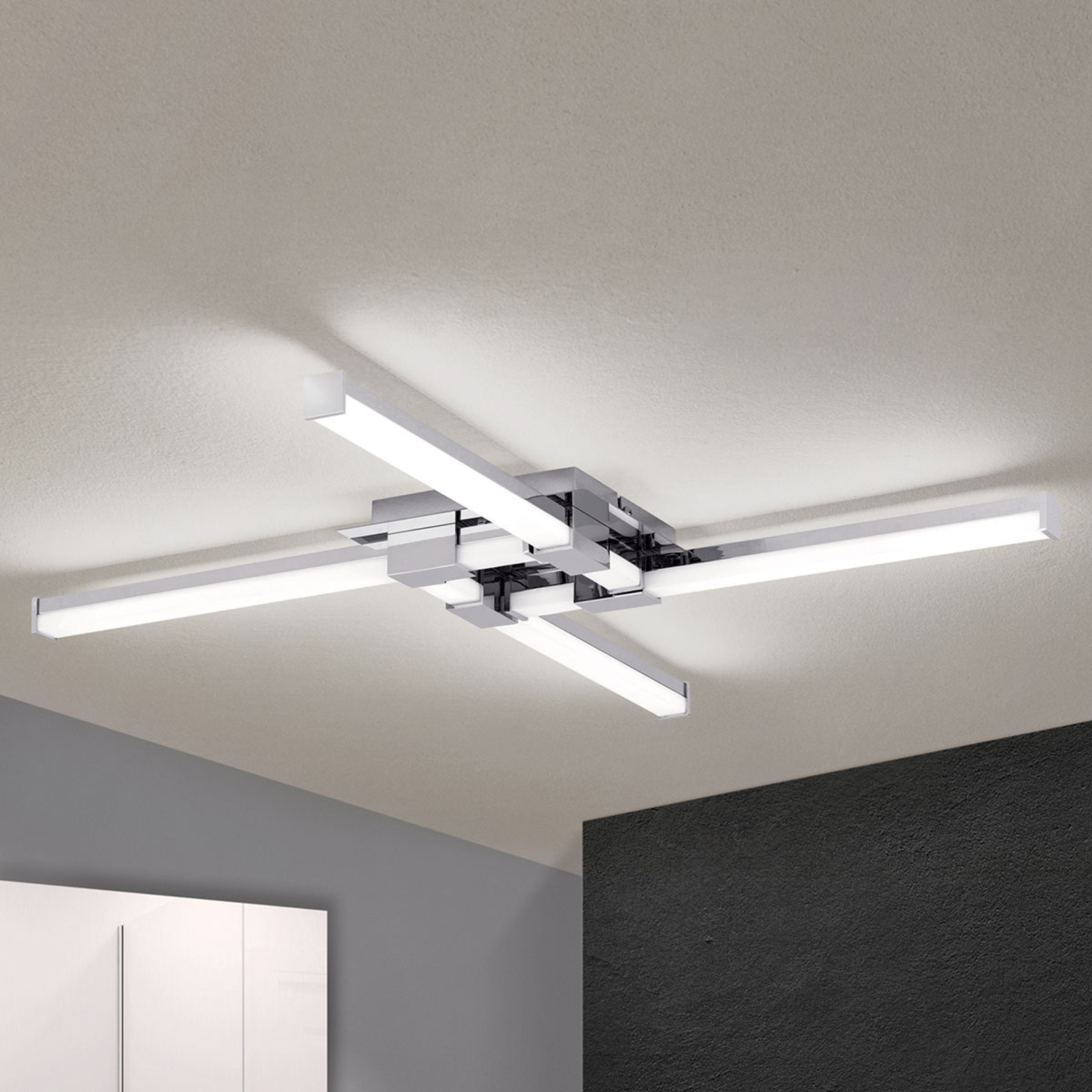 LED badkamer plafondlamp Argo met vier lampjes