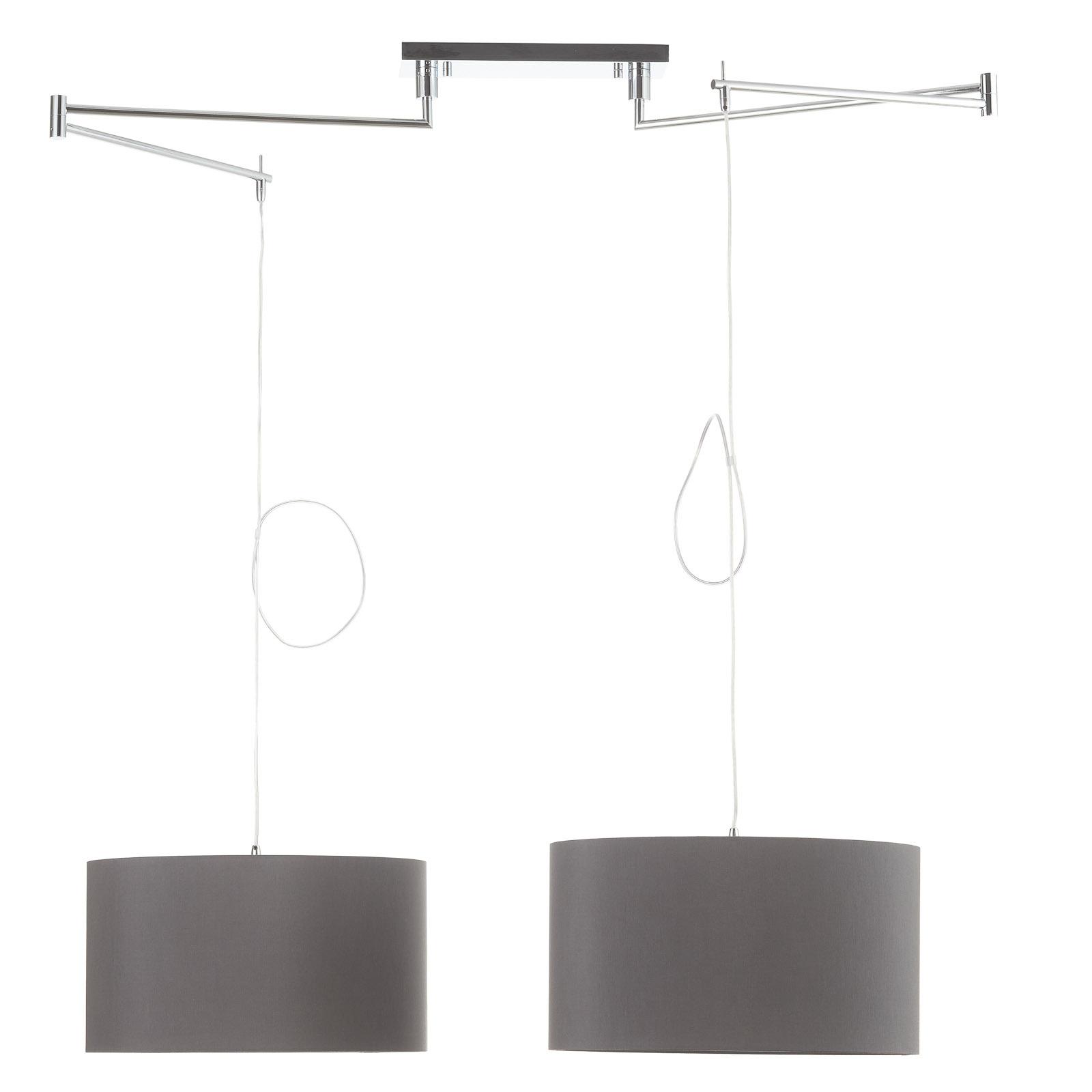 Helestra Certo hanglamp cilinder 2-lamps antraciet