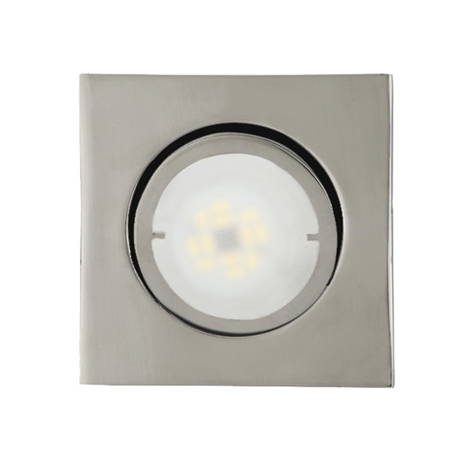 Joanie kantet LED-indbygningslampe, krom