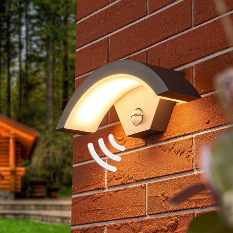 Sensor LED utendørs vegglampe Jule