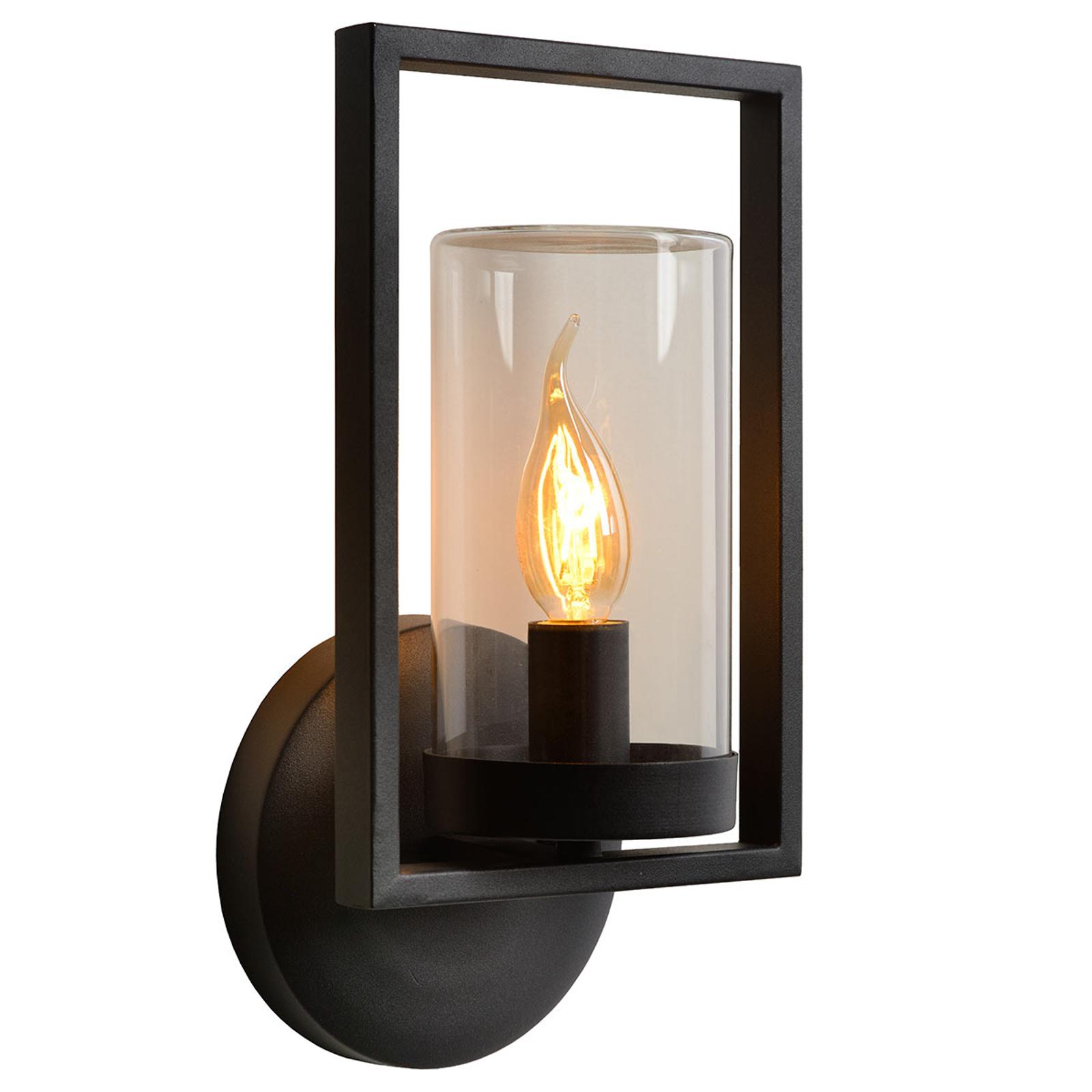 Buitenwandlamp Nispen met metalen frame