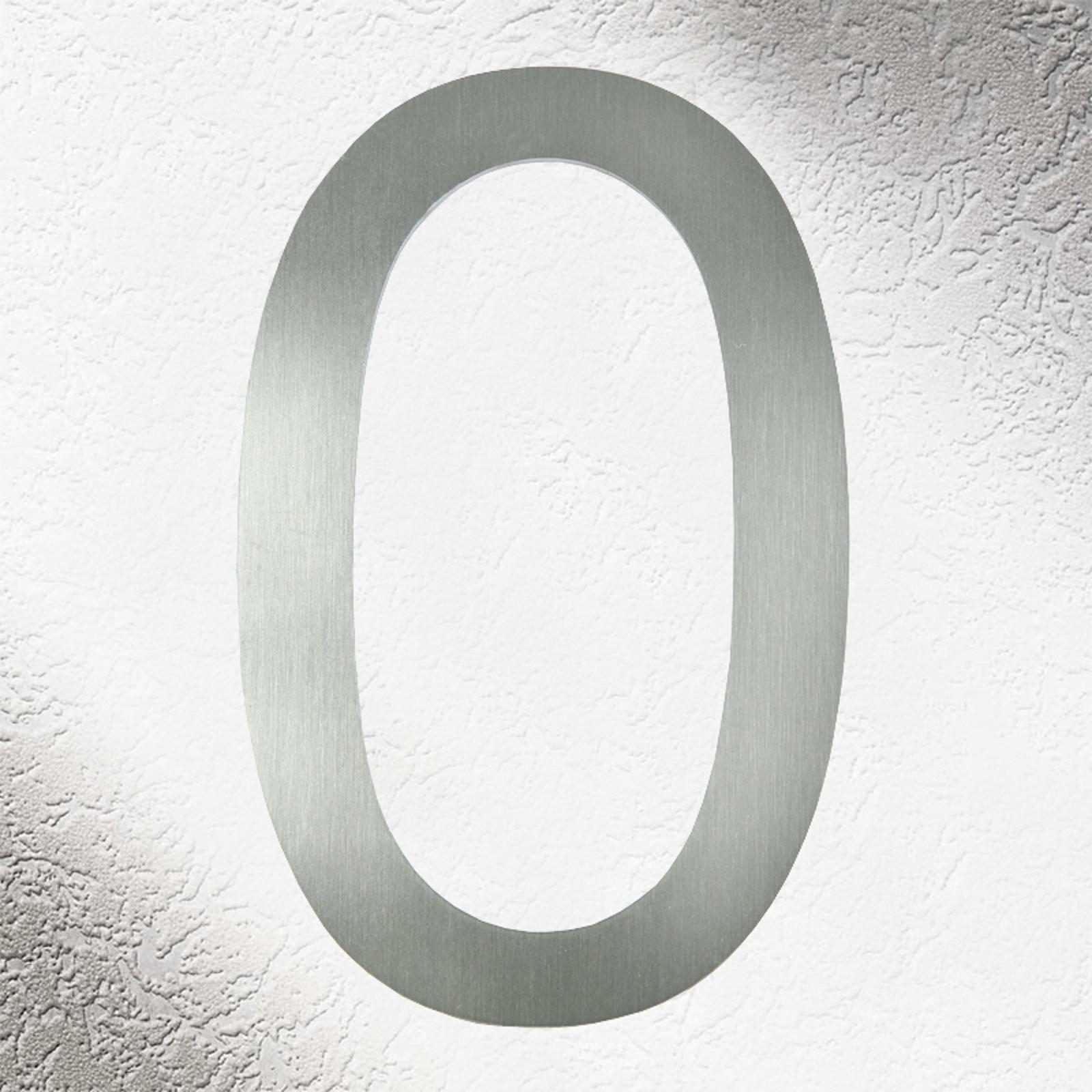 Números de casa de alta calidad acero inoxidable 0