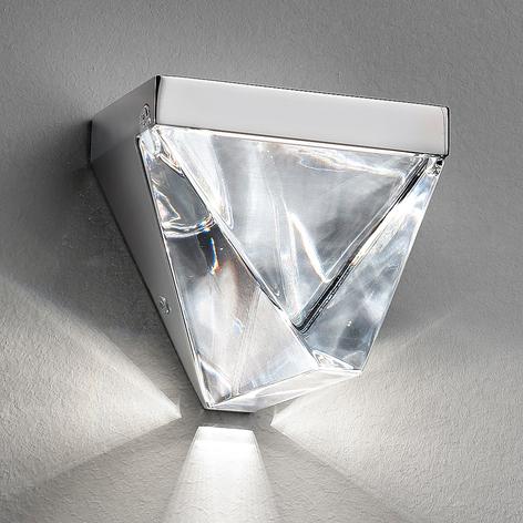 Fabbian Tripla - LED-kristallvägglampa