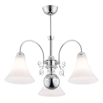 Taklampa Albena, 3 lampor, krom