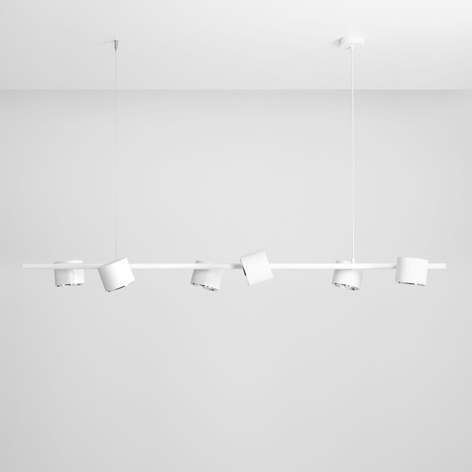 Hengelampe Bot, hvit, 6 lyskilder