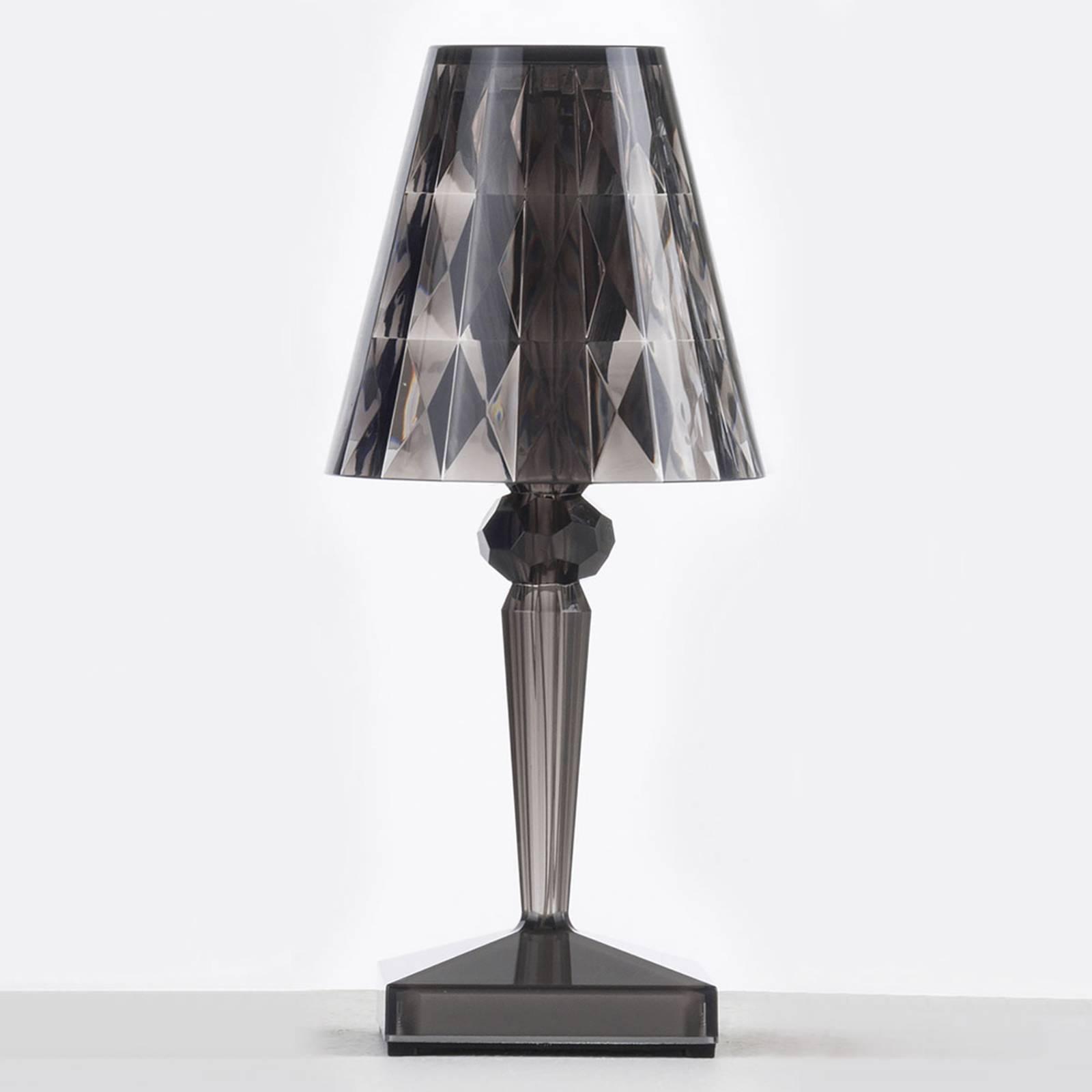 Lampe à poser LED décorative Battery, gris fumée