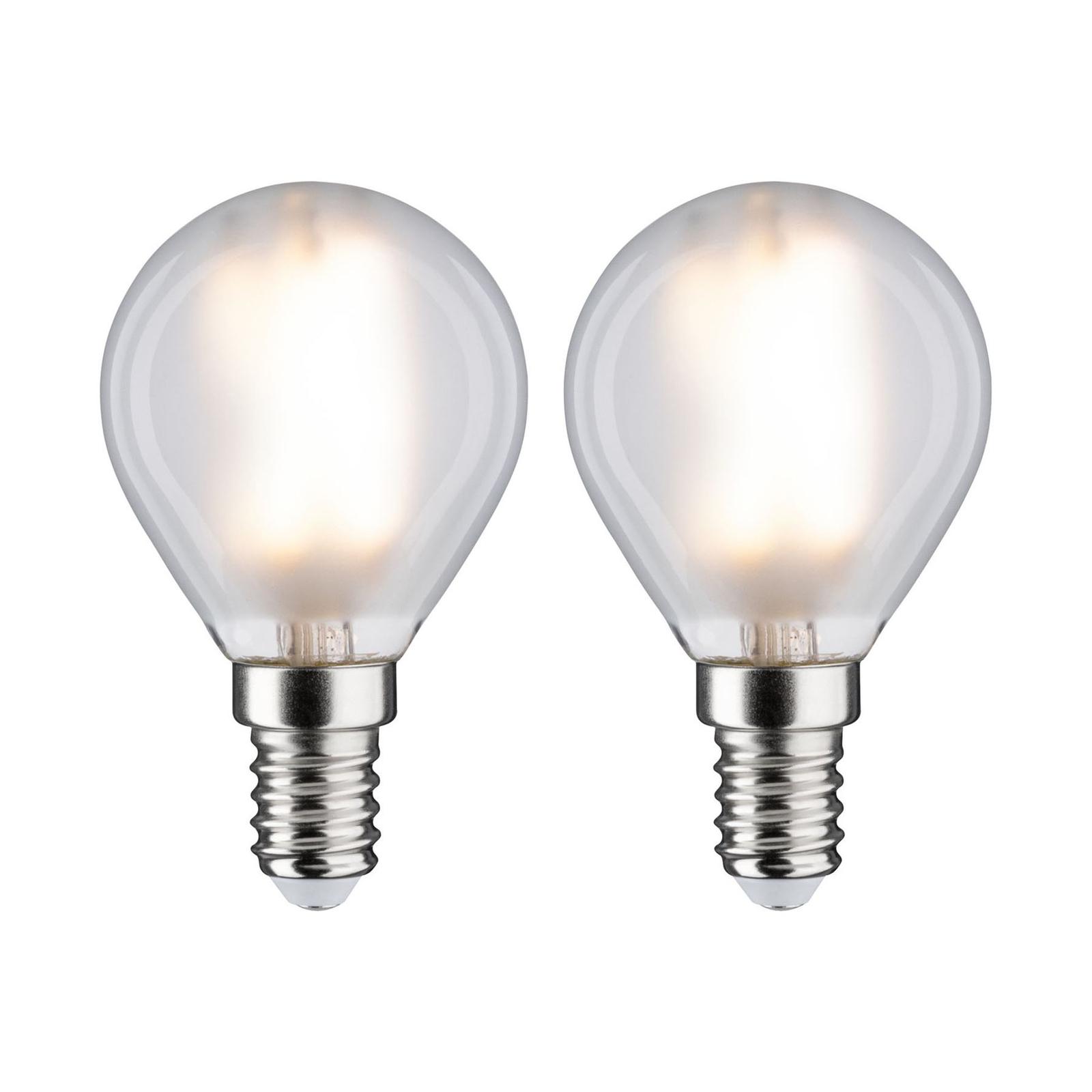 Paulmann LED-Tropfenlampe E14 4,5W 2.700K matt 2er