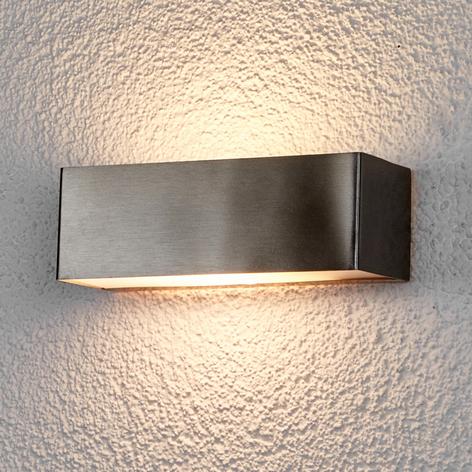 LED-Außenwandleuchte Alicja aus Edelstahl