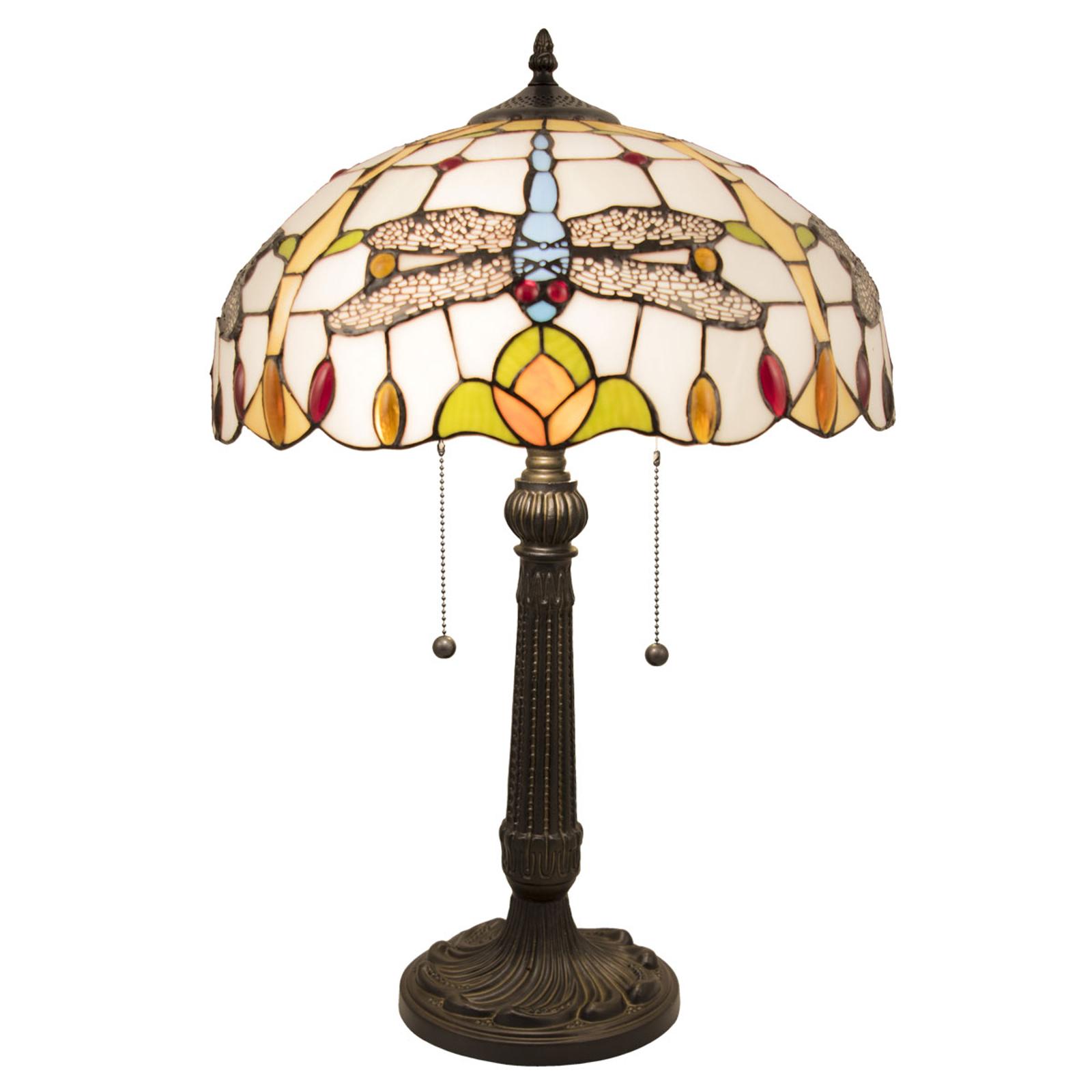 Tafellamp 5945 in Tiffany-look met Libellen