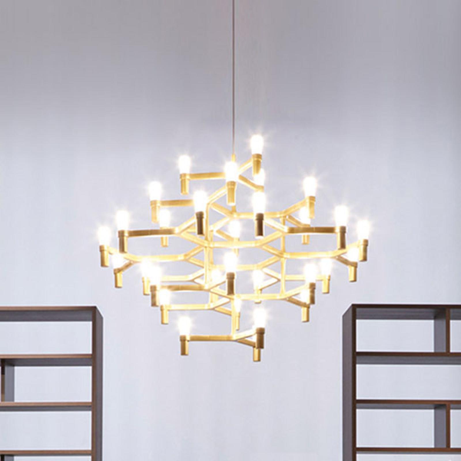 Nemo Crown Major lampa wisząca 30-punktowa złota
