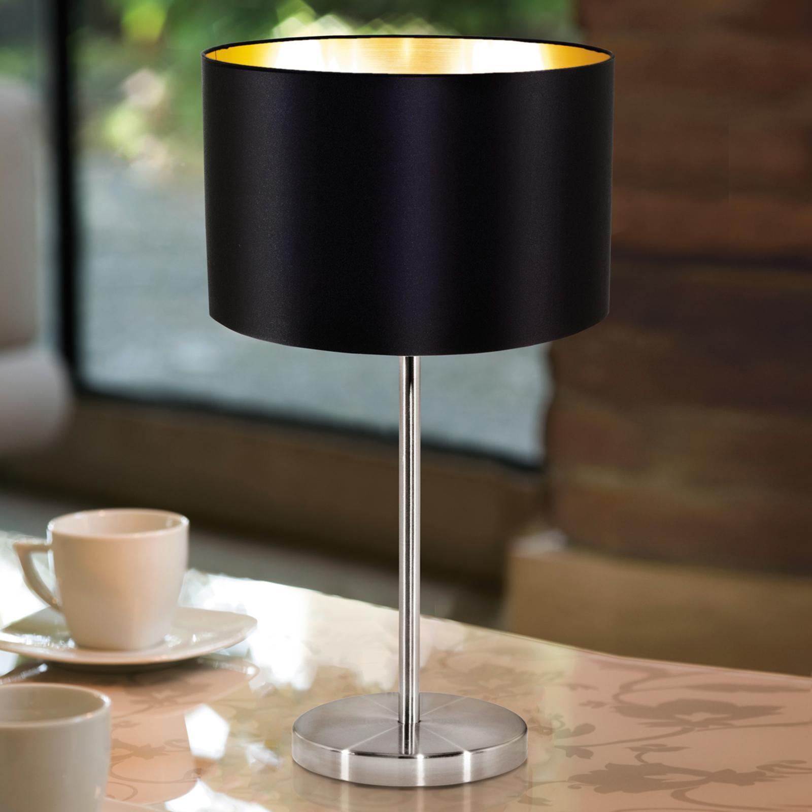 Lámpara de sobremesa sencillo de tela Lecio