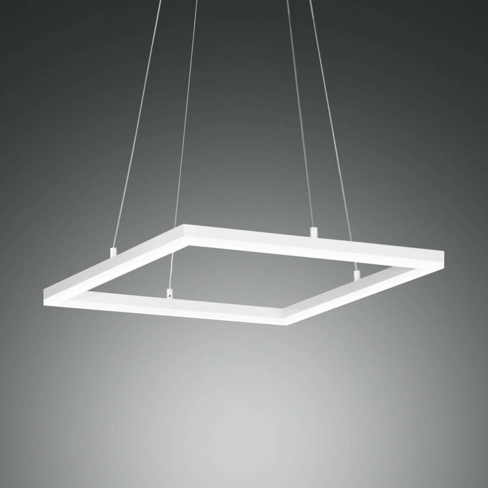 LED hanglamp Bard, 42x42cm in wit