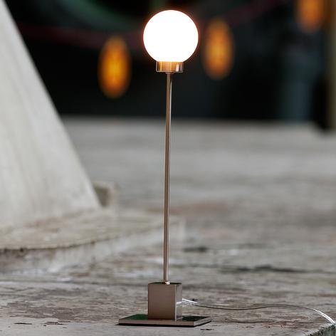 Minimalistische tafellamp Snowball, metallic