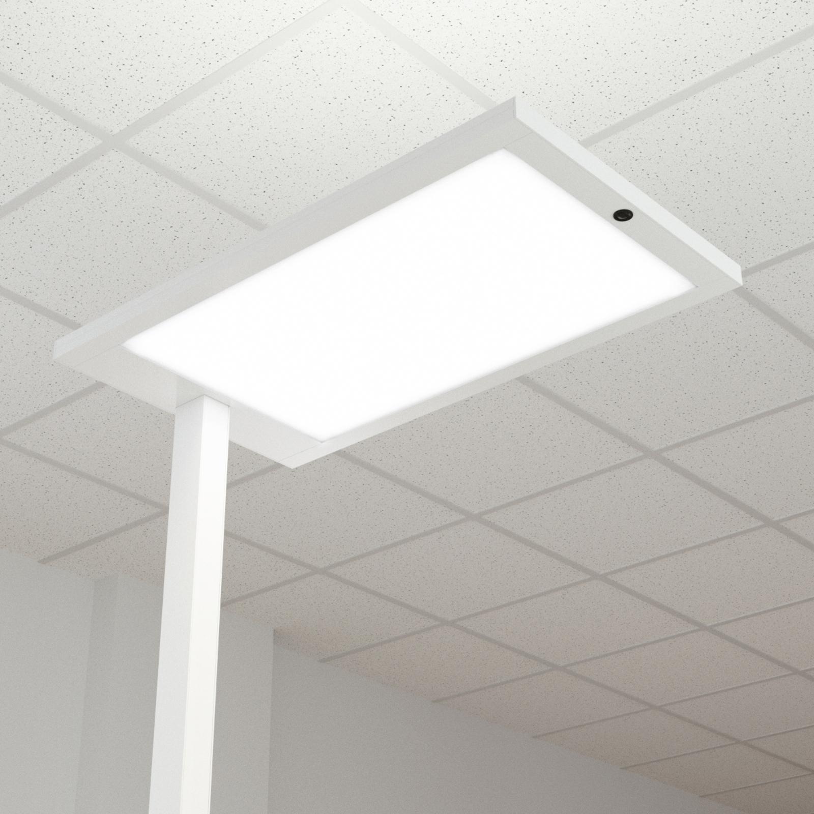 Lampadaire bureau LED Almira réglable., blanc