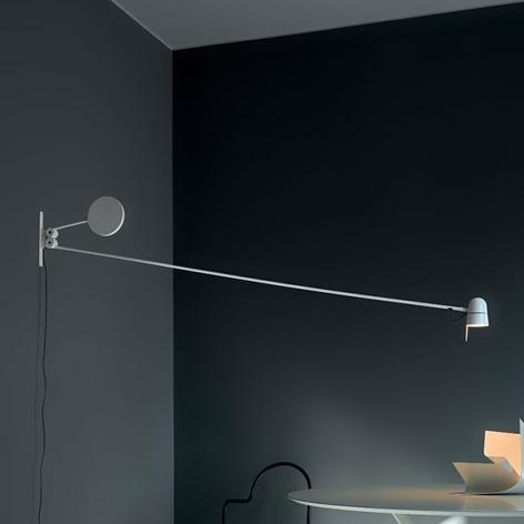 Ekstravagant LED-vegglampe Counterbalance, hvit