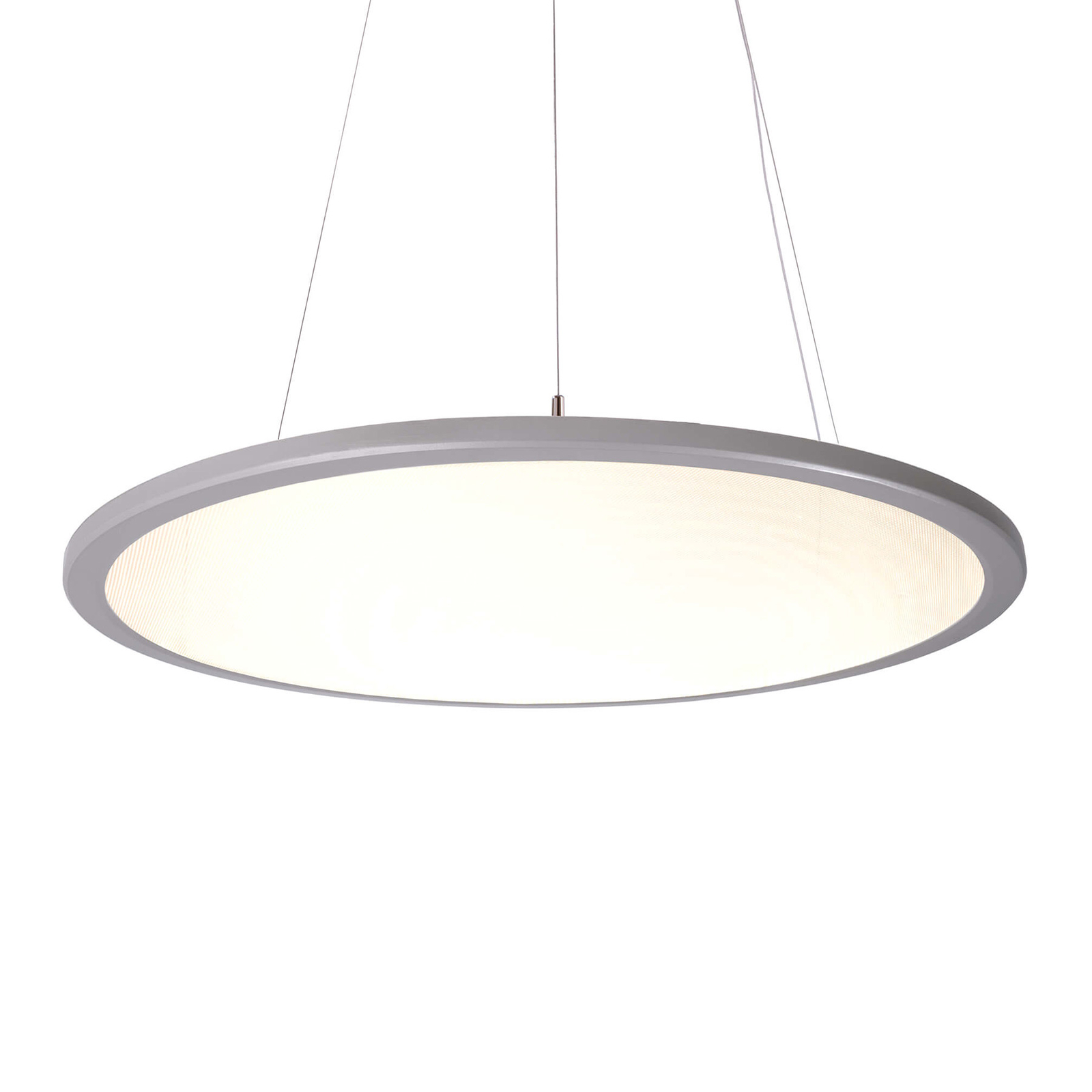 LED-Pendelleuchte 3420 rund, 3.000 K aluminium