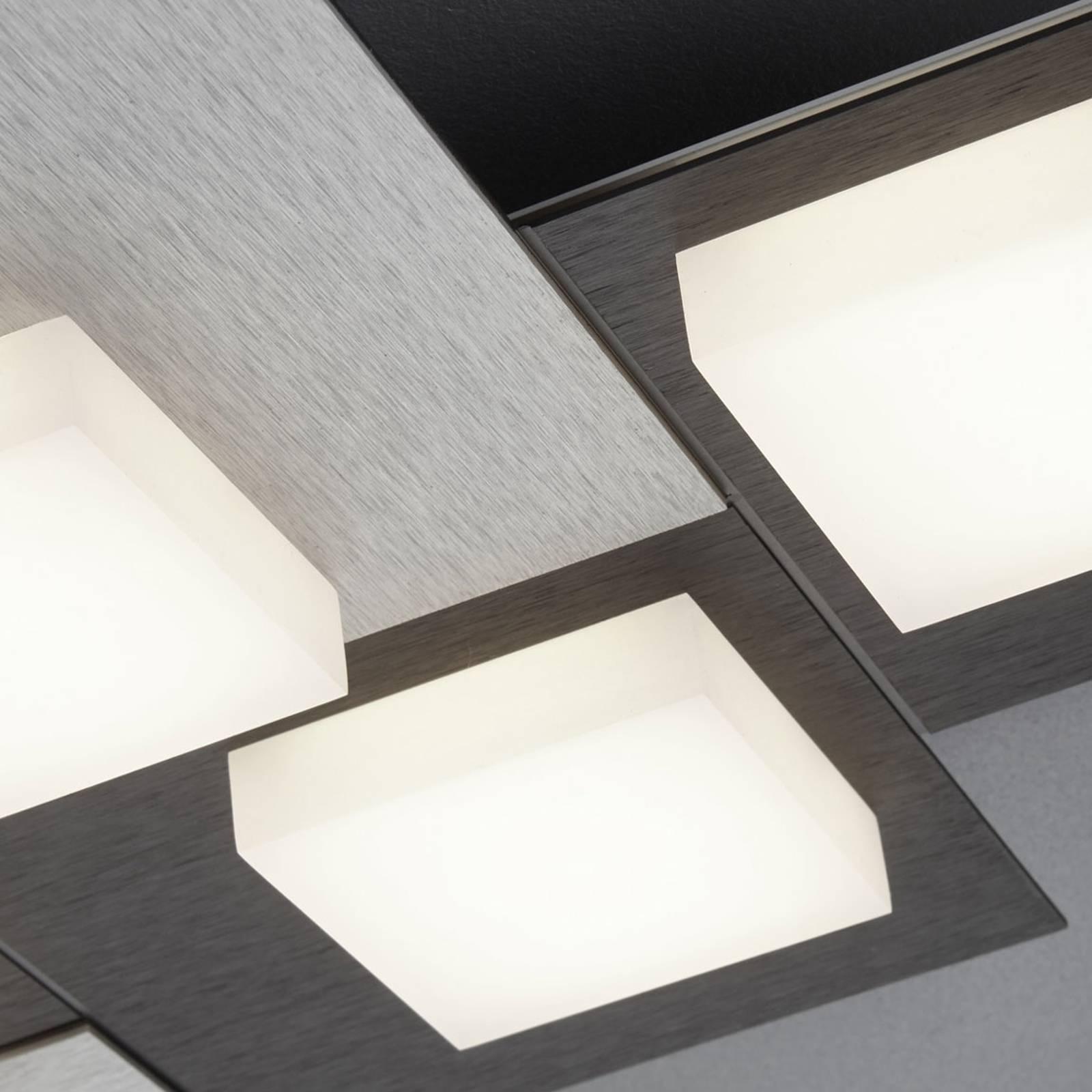 BANKAMP Cube plafondlamp 48W, antraciet
