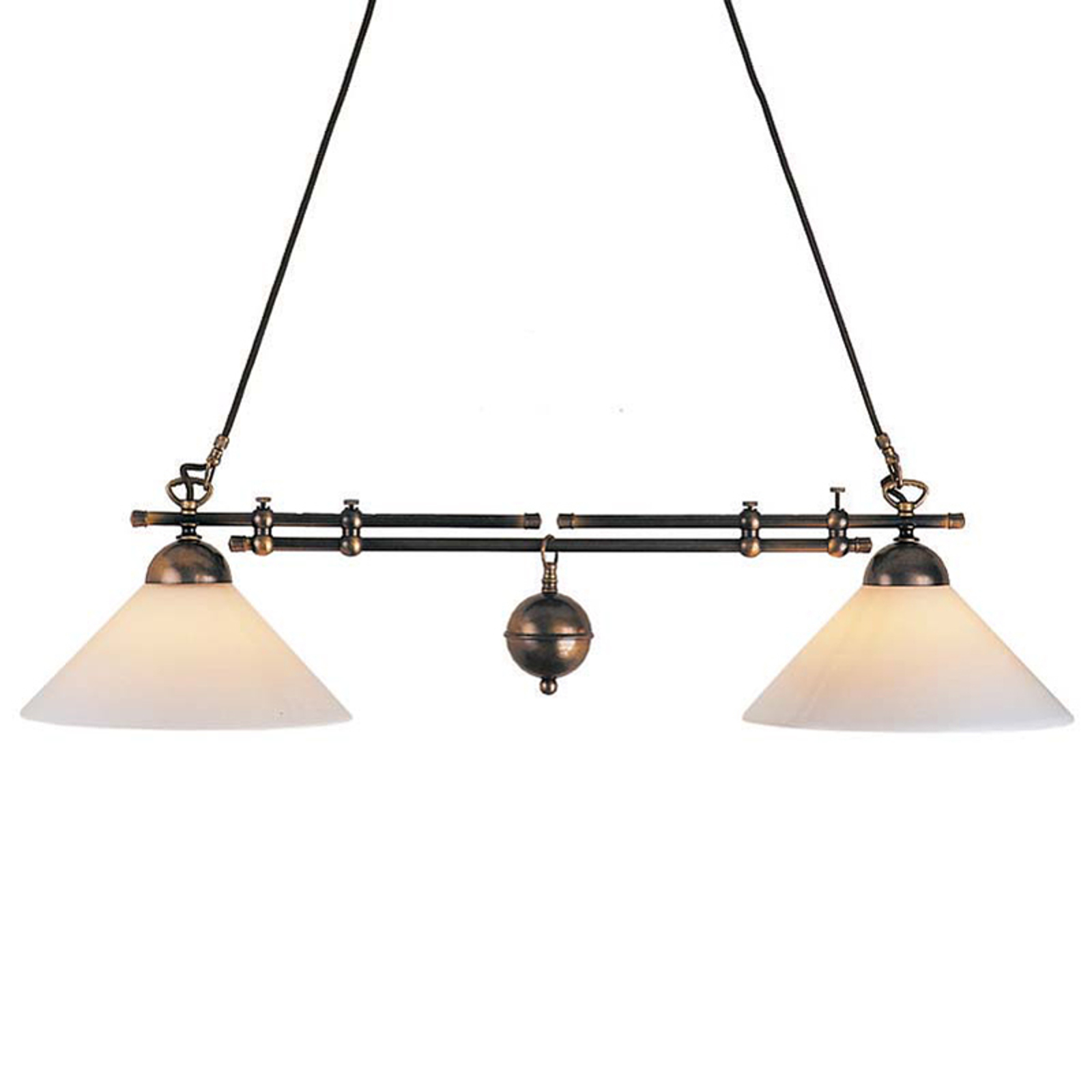 Lampa wisząca belka Anno 1900, 2-punktowa