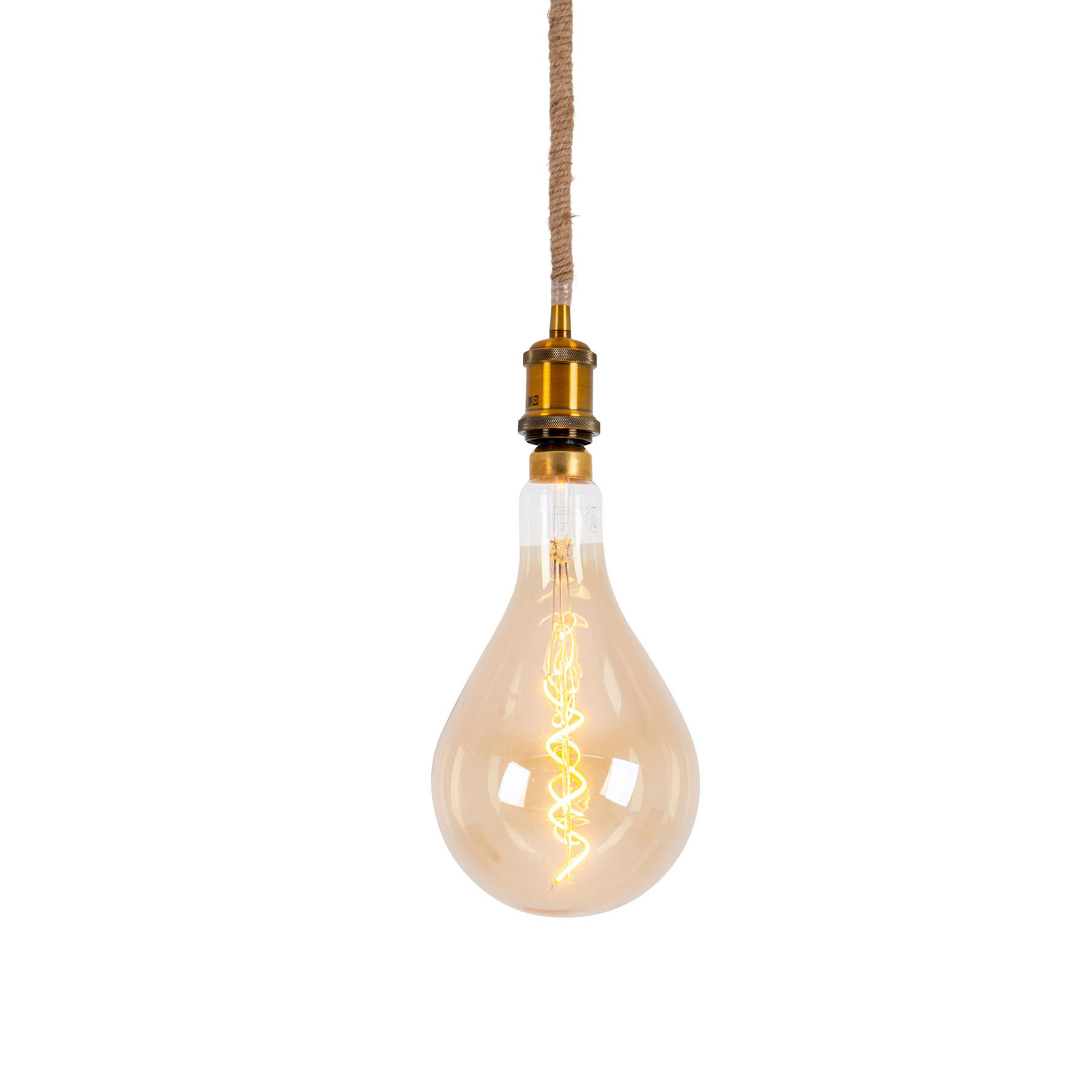 LED hanglamp Ontario, henneptouw, 1-lamp