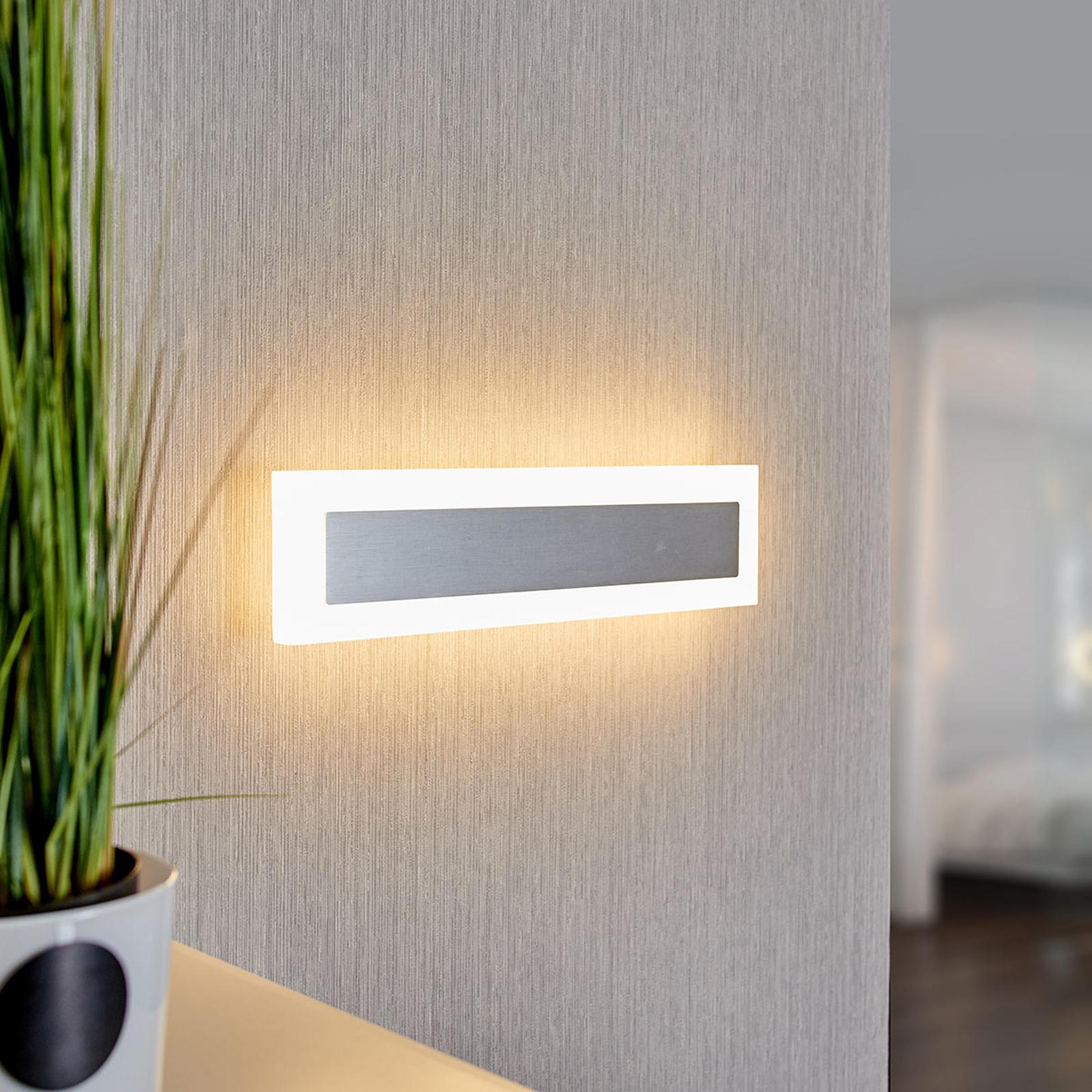 Lámpara de pared LED Marle con forma rectangular