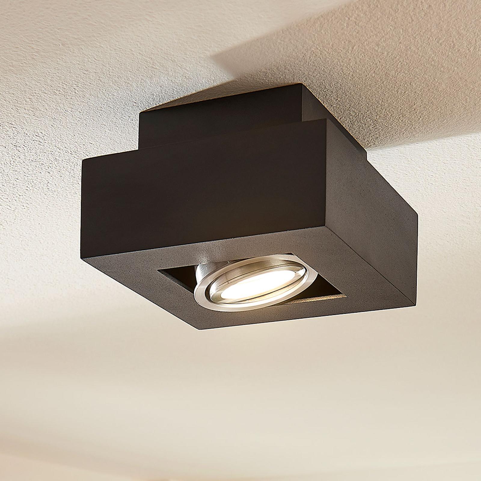LED-Deckenleuchte Vince, 14x14cm in Schwarz