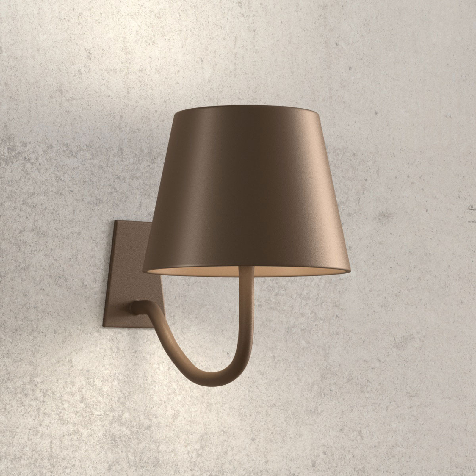 Applique LED Poldina dimmable, batterie, brun