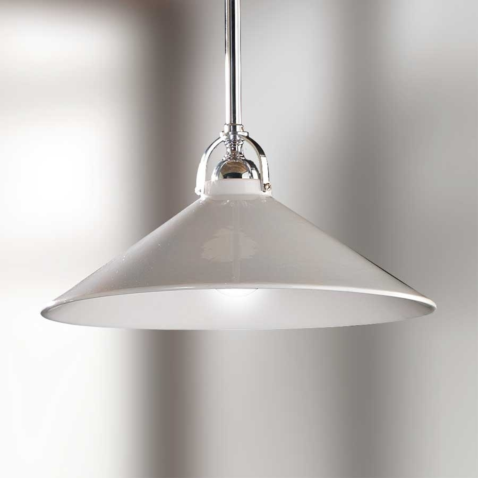 Lámpara colgante GIACOMO blanca, pantalla cerámica