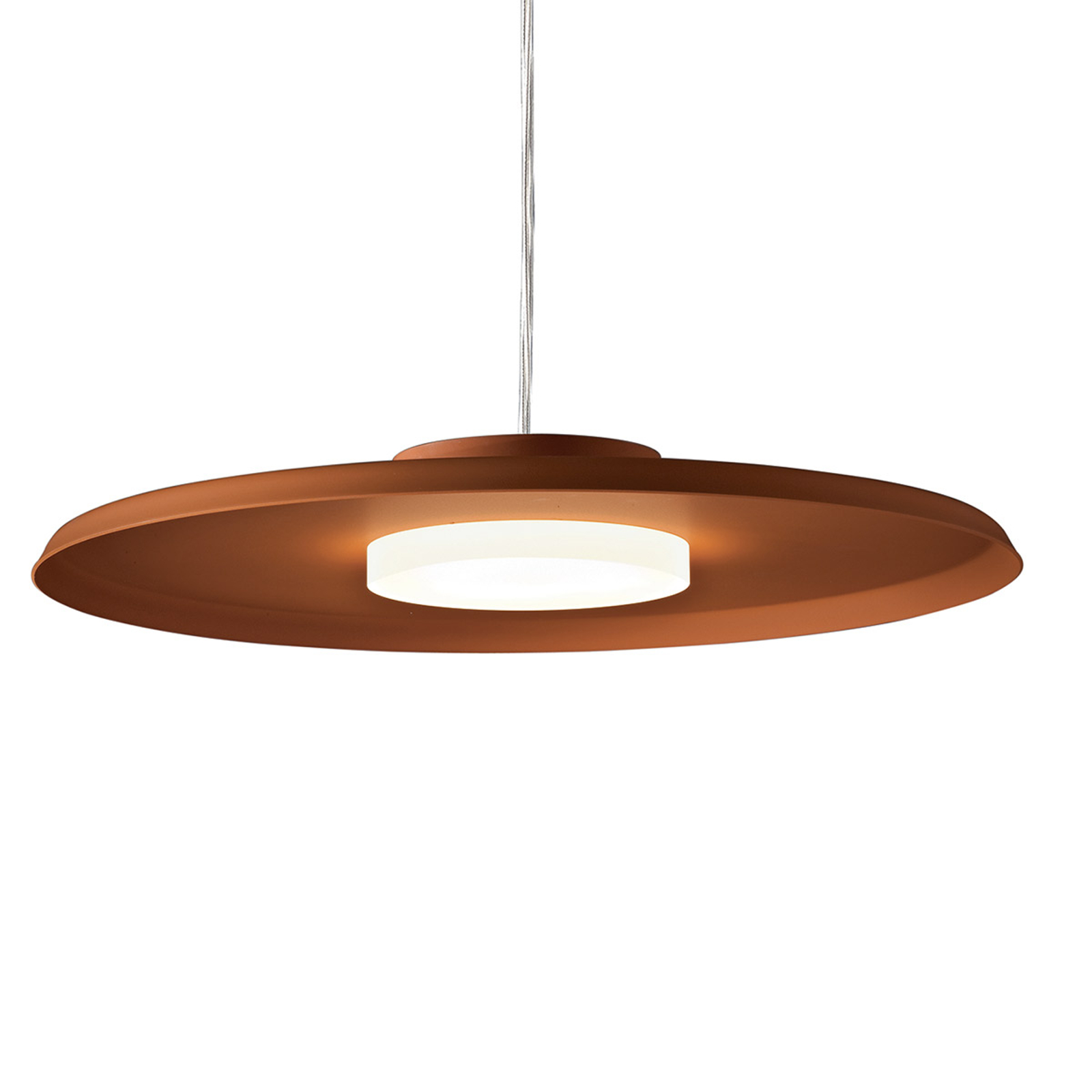 LED hanglamp 360, baksteenrood