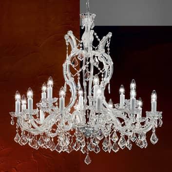 Elegant takkrona LILIANA med kristaller