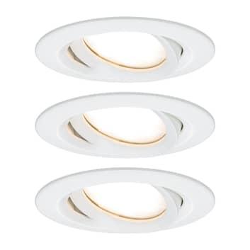 Paulmann Nova Plus foco LED redondo, set de 3