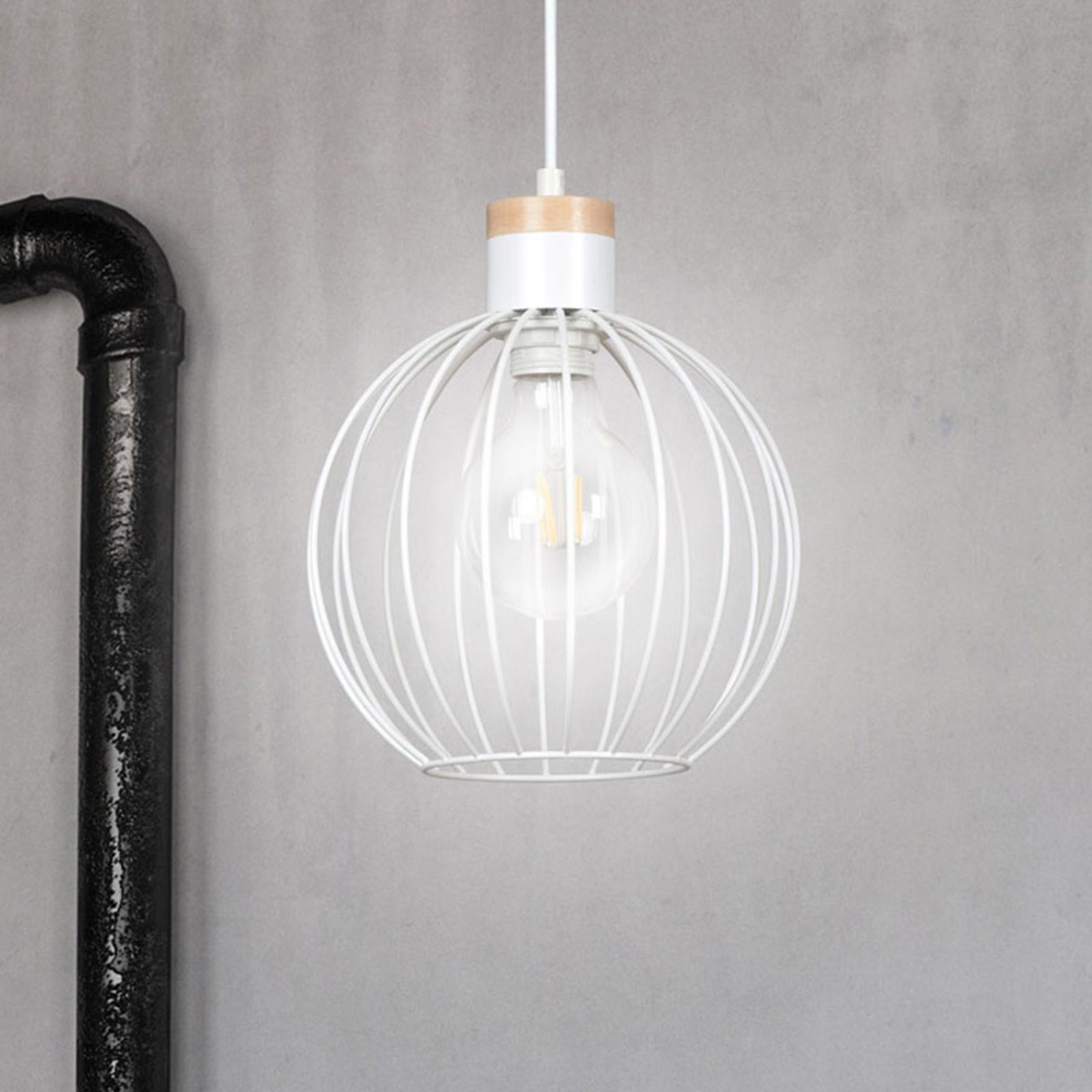 Závěsné světlo Barbado, jeden zdroj, bílá