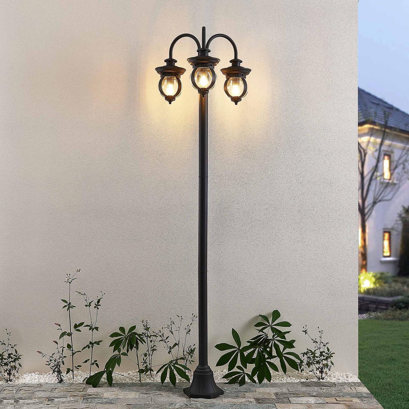 Lindby Farley latarnia ogrodowa, 3-punktowa