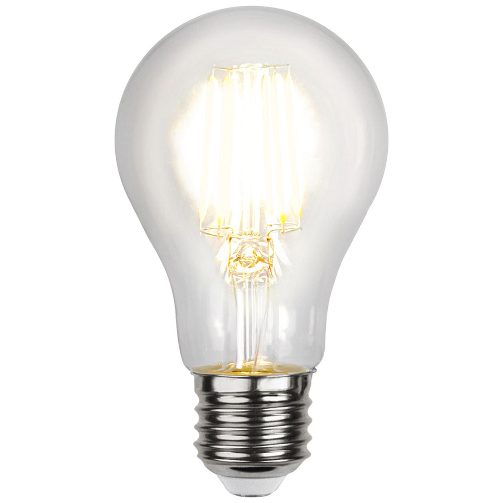 LED-Lampe E27 3,5W A60 klar AC/DC 12-24V 2.700K