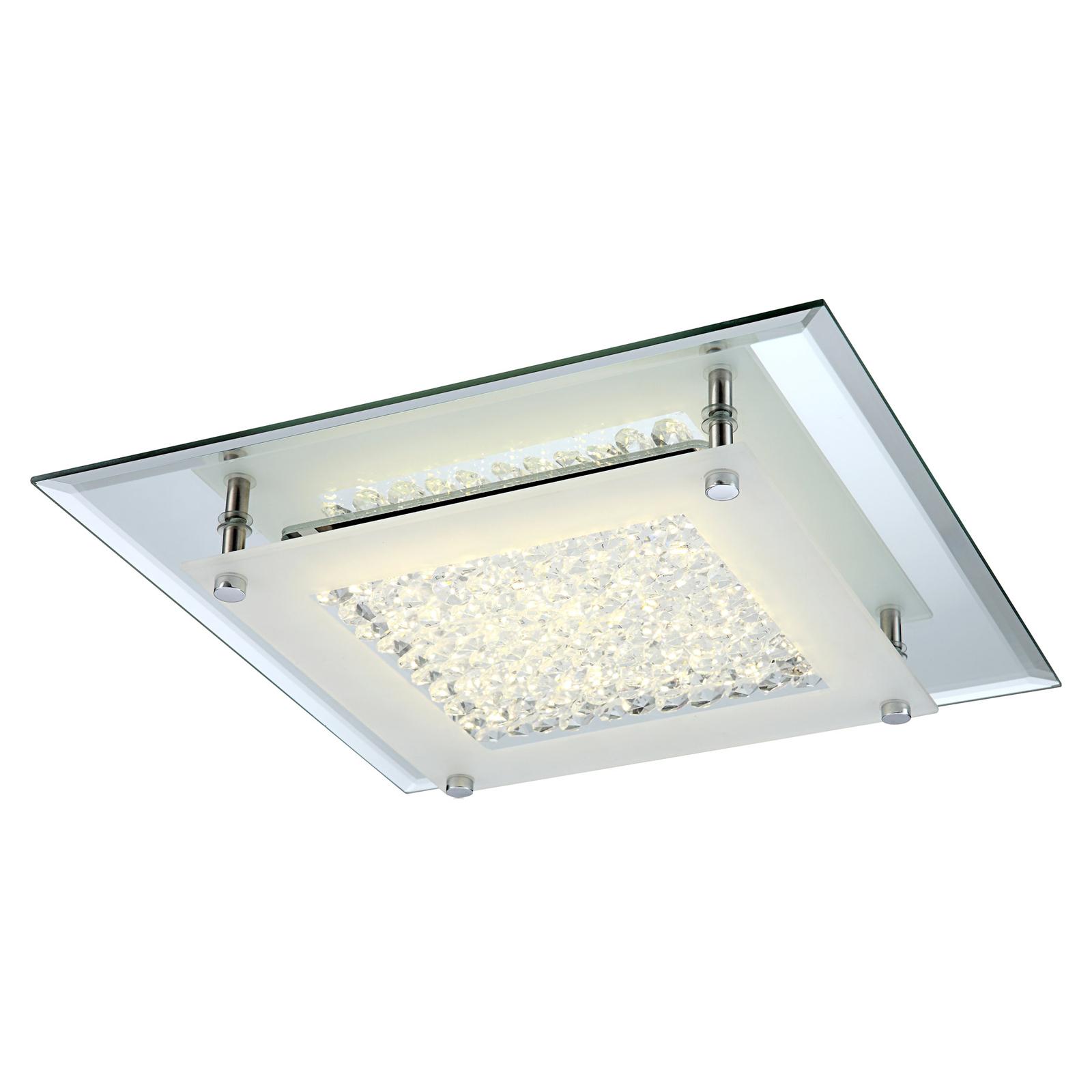 LED-Deckenleuchte Liana mit K5-Kristallen