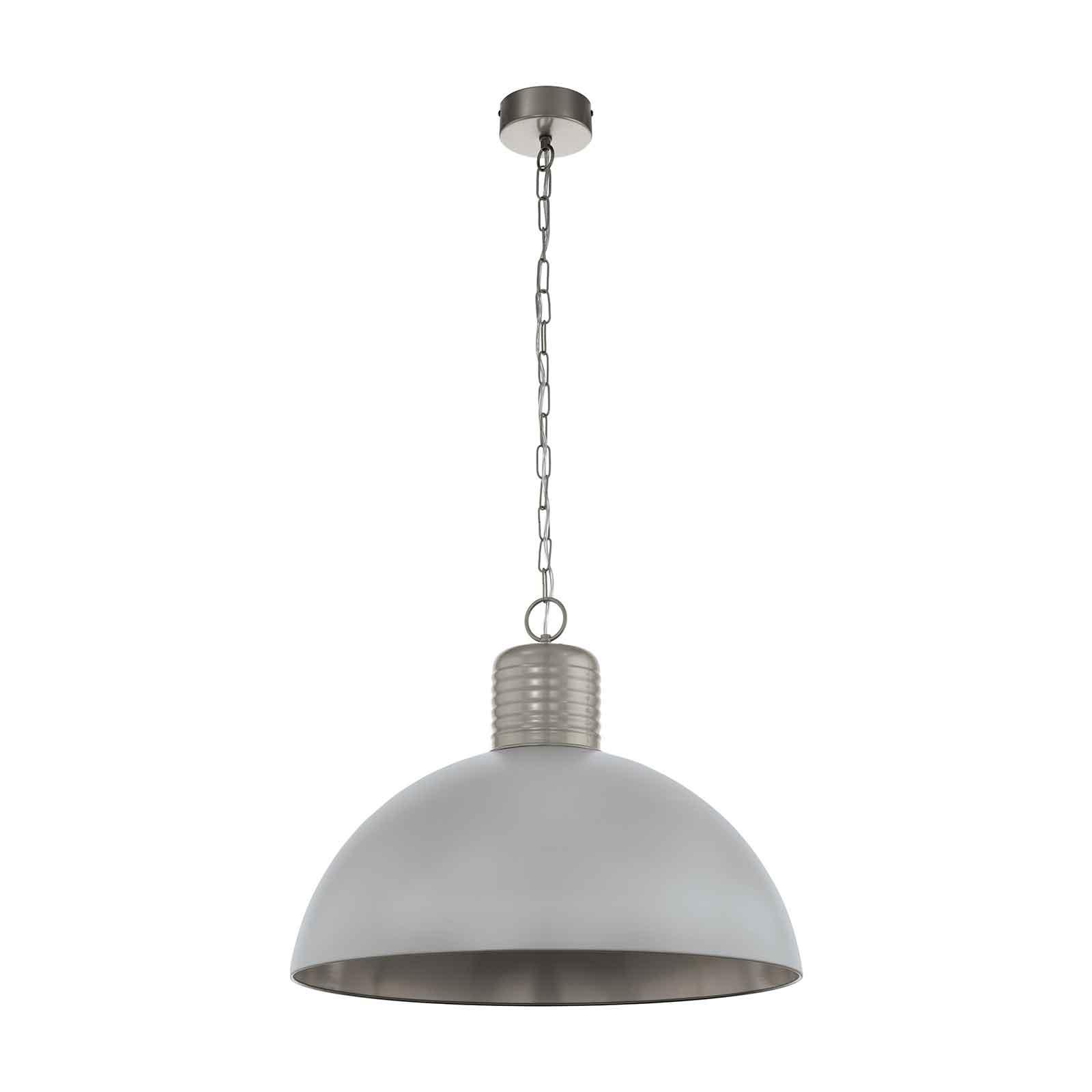 Lampa wisząca Coldridge, aluminium, 65 cm, szary