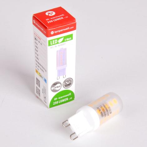 G9 3W 830 LED żarówka sztyftowa, ściemn.
