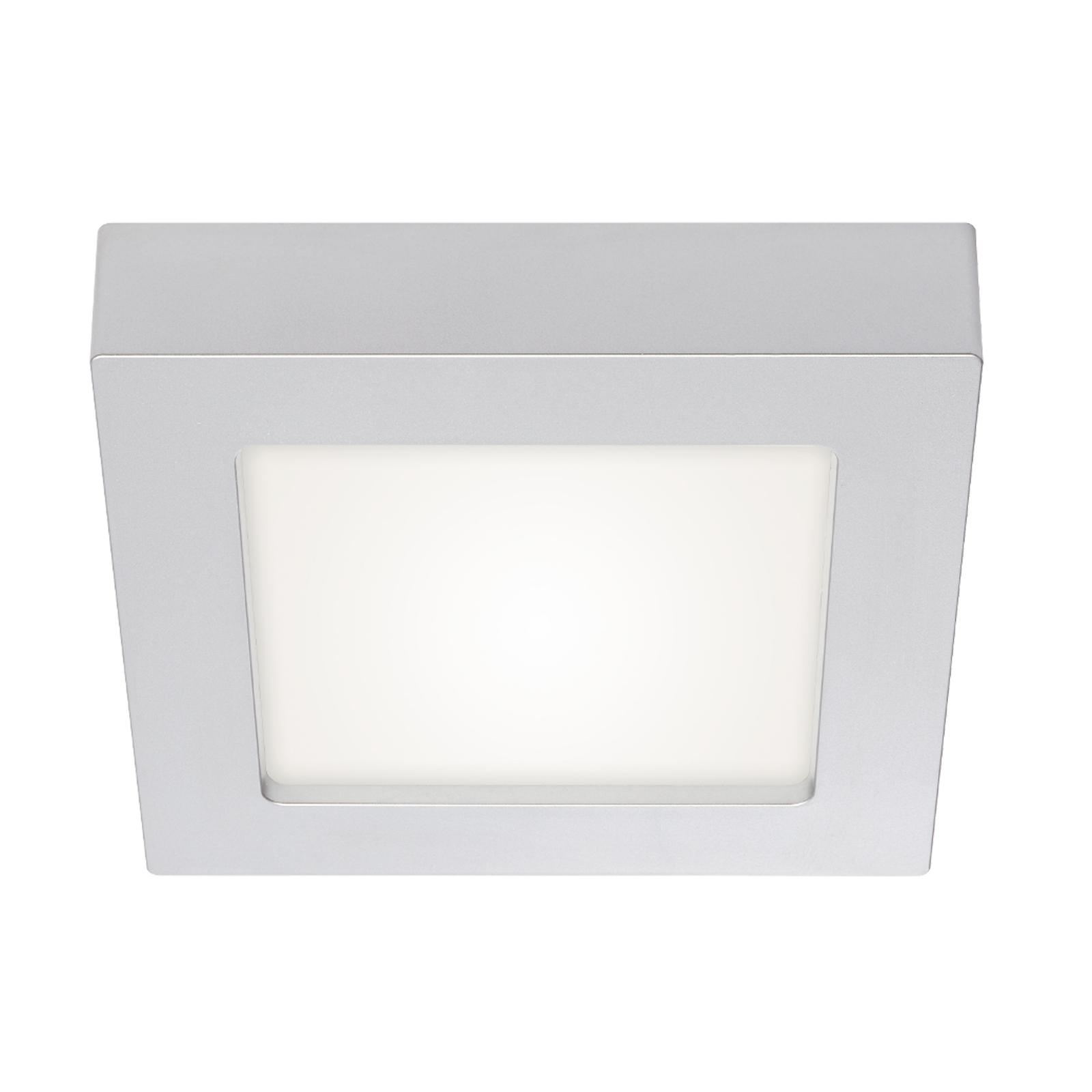 Prios Alette LED-taklampe, sølv, 17,2 cm