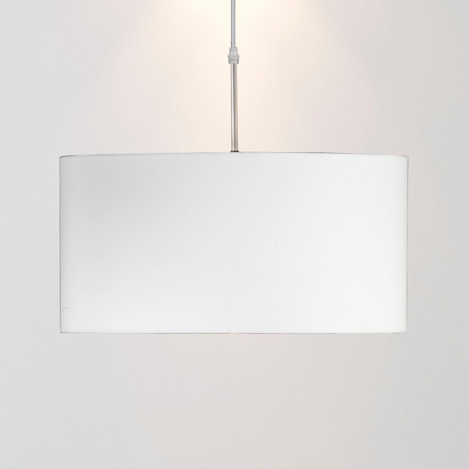 Závěsné světlo slátkovým stínítkem vbílé barvě