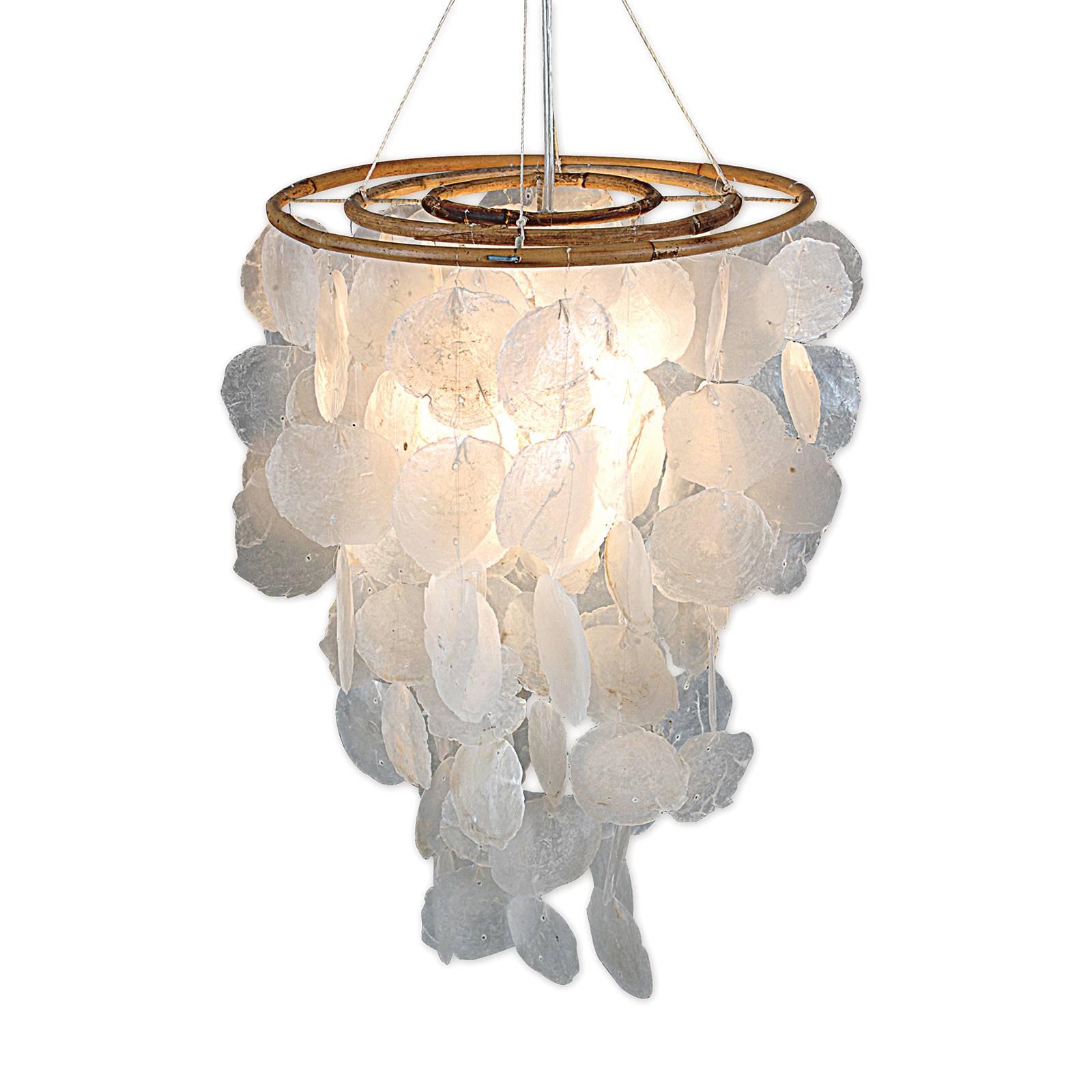 Lampa wisząca 707923 z elementami muszli, Ø 30 cm