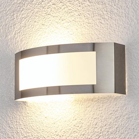 Vonkajšie nástenné svietidlo Raja z ocele