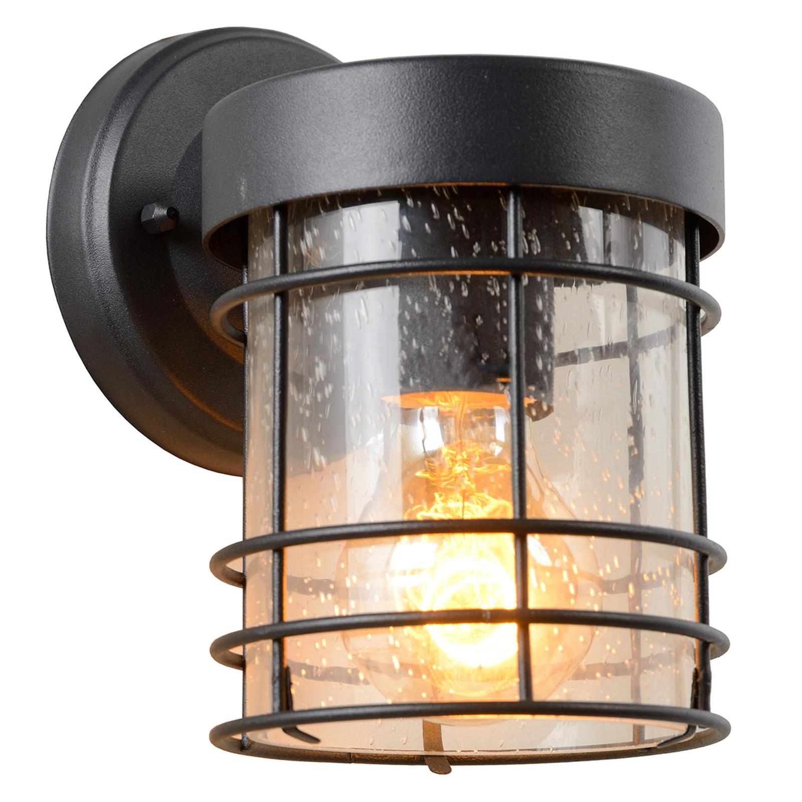 Buitenwandlamp Keppel van metaal en glas