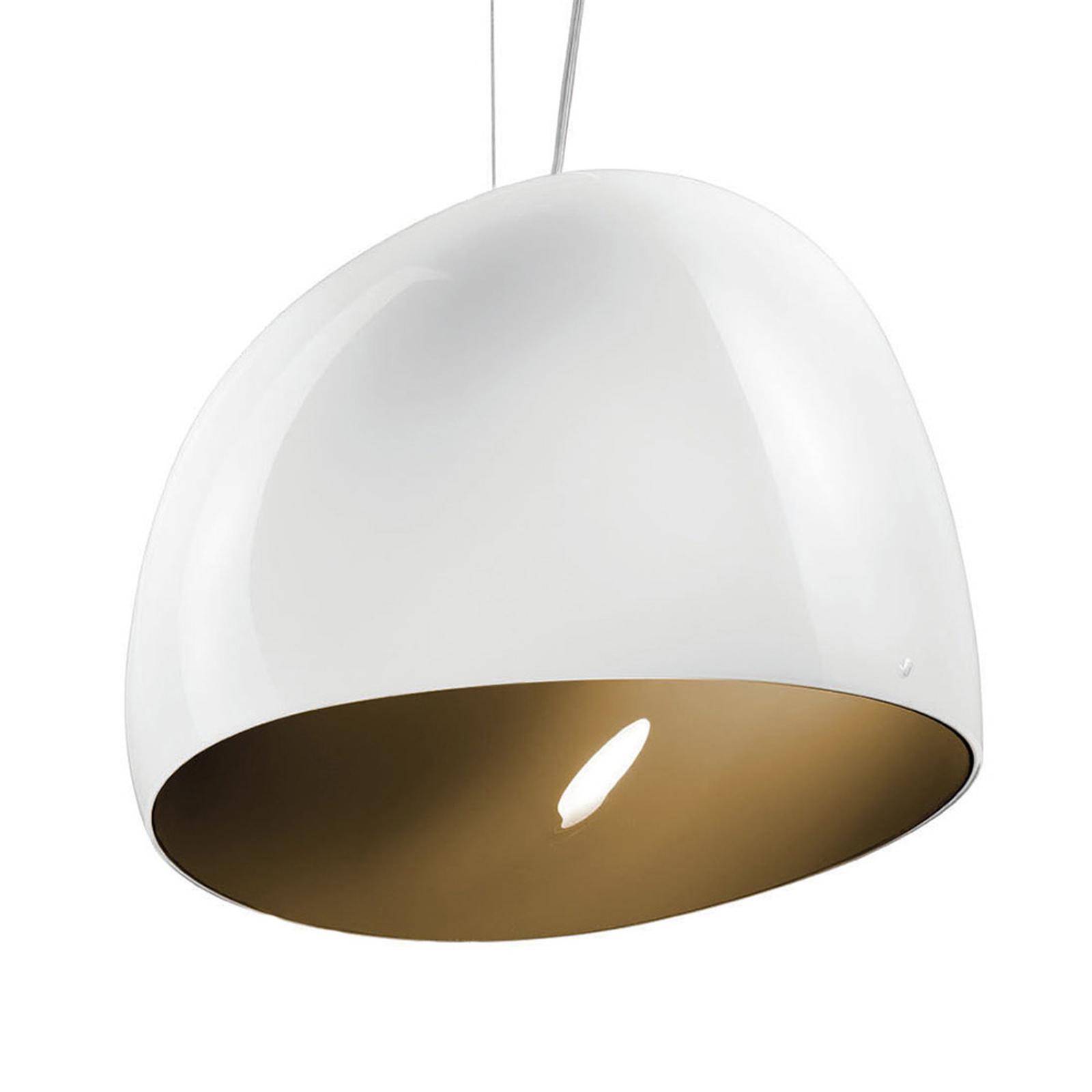 Hanglamp Surface Ø 40 cm, E27 wit/aardbruin