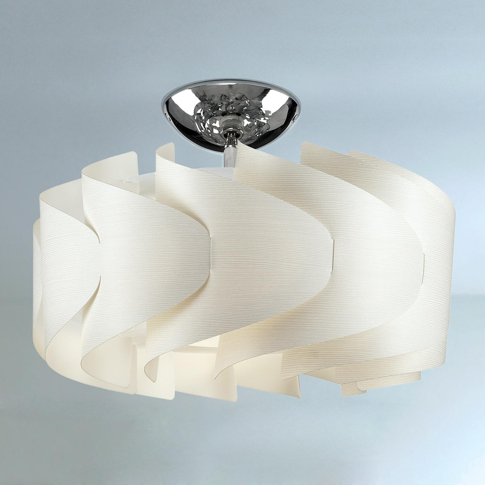 Sky Mini Ellix loftlampe i trælook, hvid