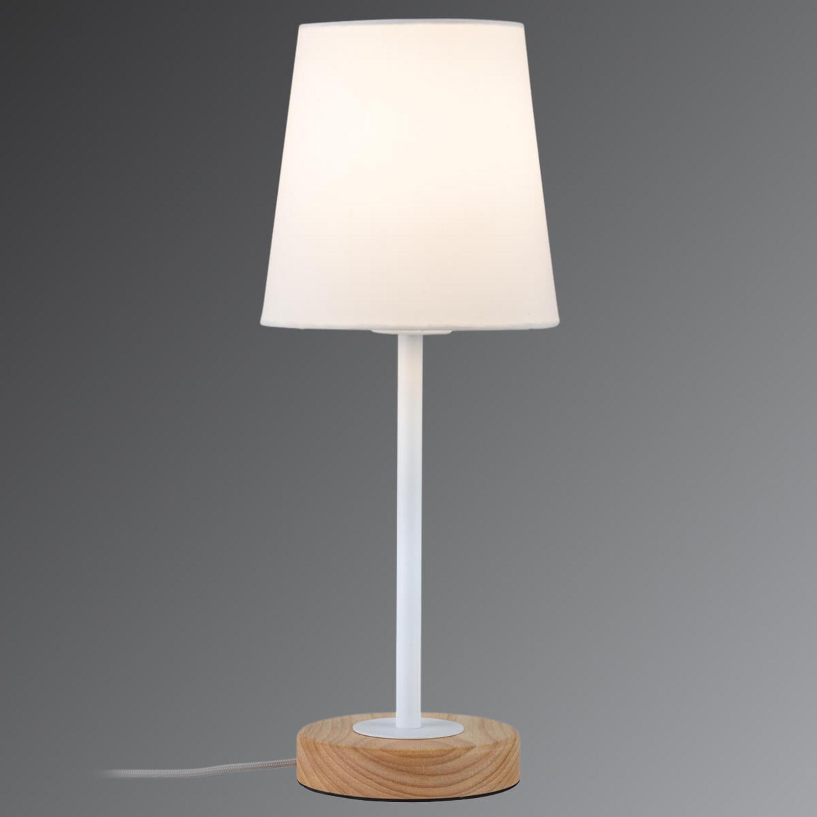 Natuurlijk ontworpen textiele tafellamp Stellan