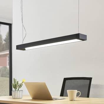 Arcchio Cuna LED-Pendellampe, schwarz, eckig 92 cm