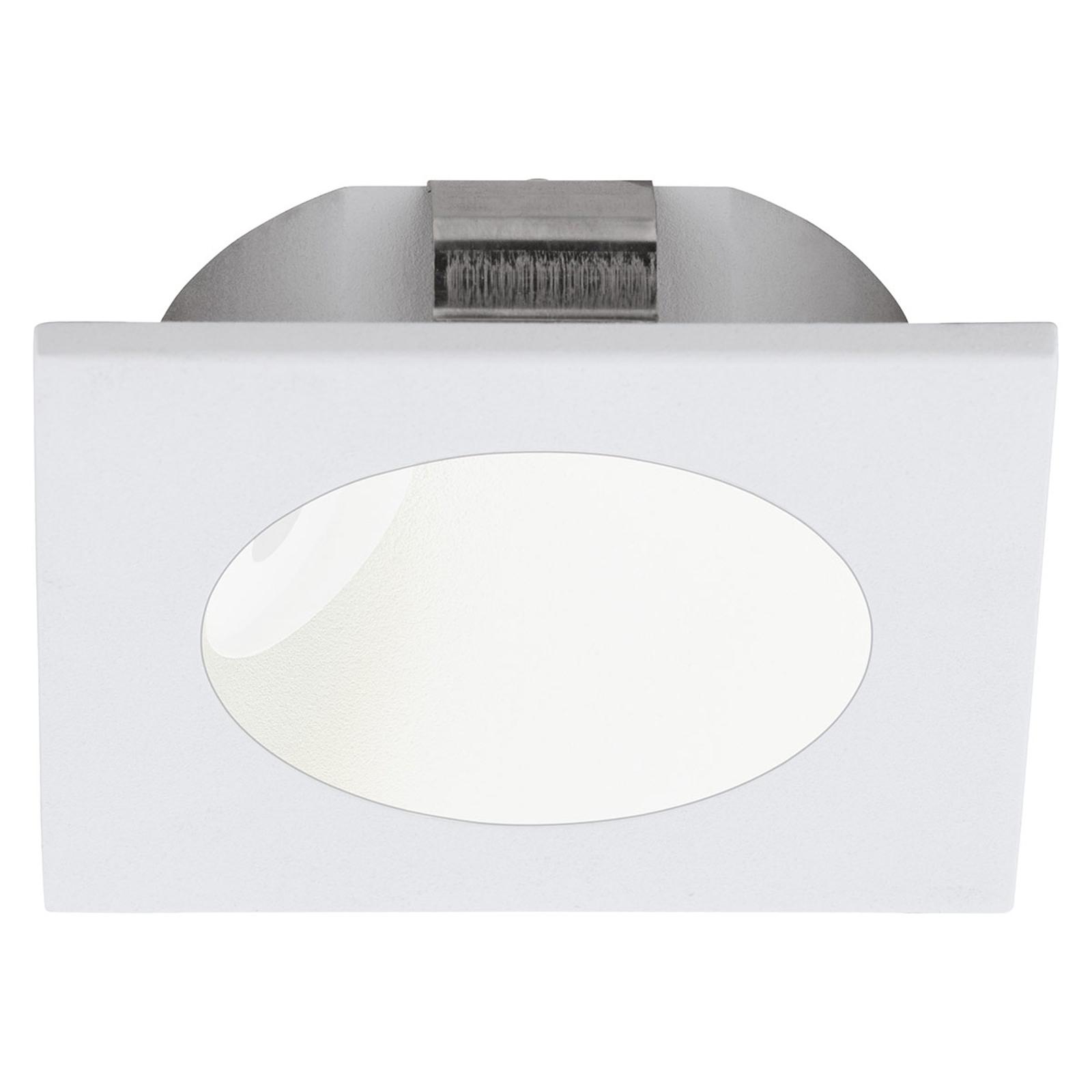 Spot LED da incasso in parete Zarate, bianco