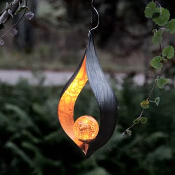 Suggestiva lampada LED solare Melilla da appendere