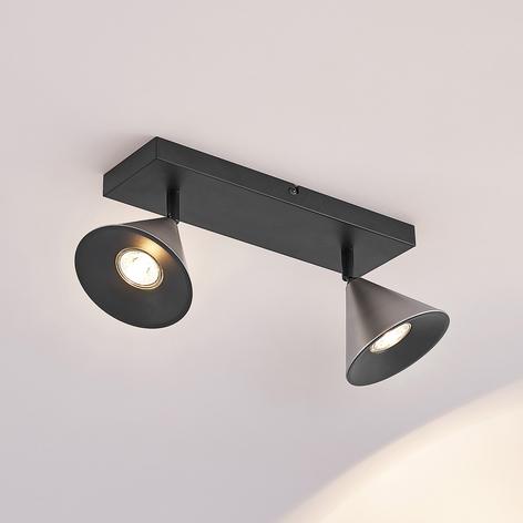 Lucande Kartio 2 žárovka, naklápěcí, nikl
