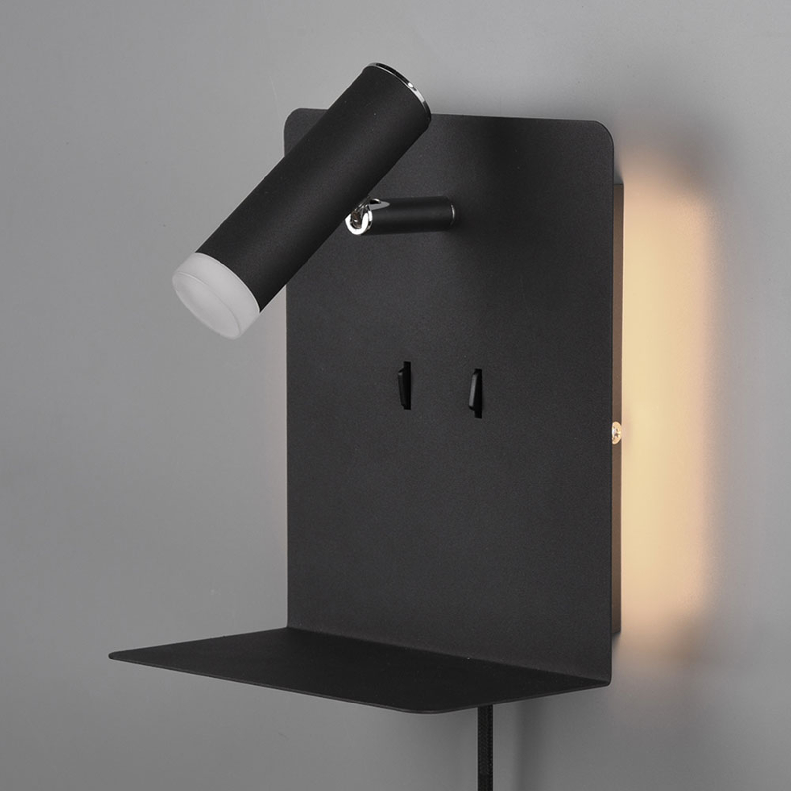 LED-vegglampe Element, matt svart