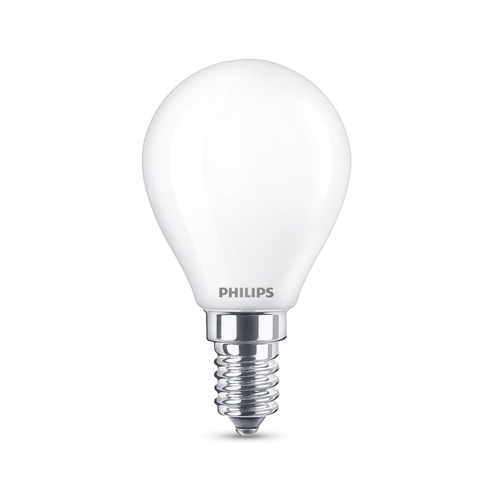 Philips Classic LED lamp E14 P45 6,5W 2.700K mat